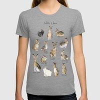 Rabbits & Hares Womens Fitted Tee Tri-Grey SMALL