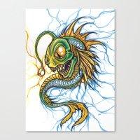 Angler Illustration Canvas Print
