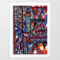 Tribal Texture Art Print