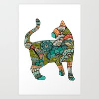 Vegetarian cat Art Print