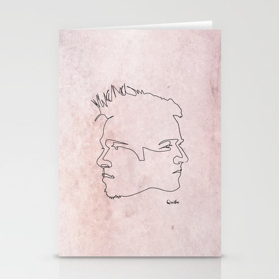 One line Fight Club Stationery Card