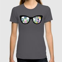 Abstract Eyes Womens Fitted Tee Asphalt SMALL