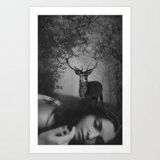 le rêve du cerf Art Print