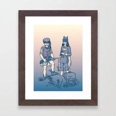 Moonrise Gotham Framed Art Print