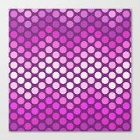 Dot Chevron: Pink Plum Canvas Print