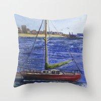 Metro Marine Throw Pillow