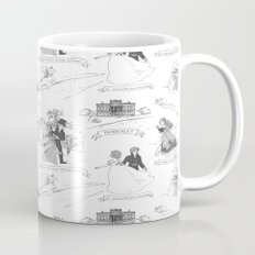 Pride and Prejudice Toile Mug