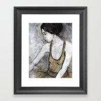 Ballerina For Print Framed Art Print