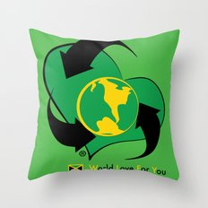 World Love For You Throw Pillow