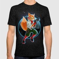 Fox McCloud Mens Fitted Tee Tri-Black SMALL