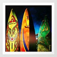 Tough Surf Art Print