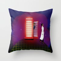 Community Inspector Spacetime  Throw Pillow
