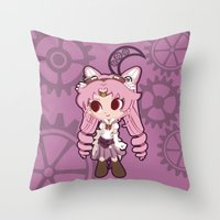 Steampunk Chibimoon - Sailor Moon Throw Pillow