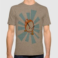EggFury Mens Fitted Tee Tri-Coffee SMALL