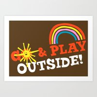 Go & Play Outside! Art Print