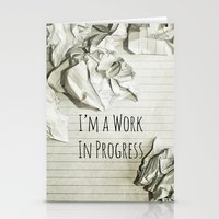 I'm A Work In Progress Stationery Cards