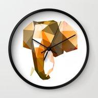 Elephant. Wall Clock