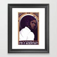 "Well, Then ""scientist�… Framed Art Print"