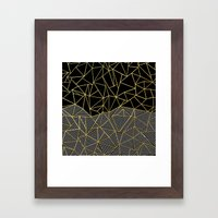 Ab Half And Half Gold Framed Art Print