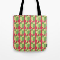 GREEN/LEMON BIRDS Tote Bag
