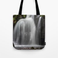 Waterfall At Lumsdale Mi… Tote Bag
