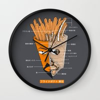 French Fries Anatomy Wall Clock