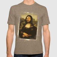 Ups! ( Mona Lisa - La Gi… Mens Fitted Tee Tri-Coffee SMALL
