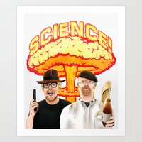 Mythbusters, for science! Art Print