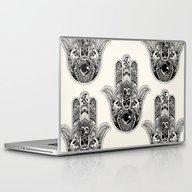 Hamsa Hand Pug Laptop & iPad Skin