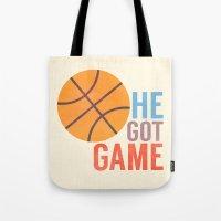 He Got Game Tote Bag