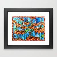 sunflower sock hop Framed Art Print