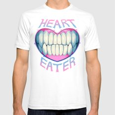 heart eater Mens Fitted Tee White SMALL