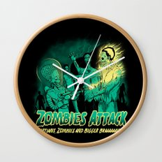 Zombies Attack Wall Clock