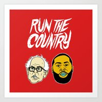 Run The Country Art Print