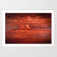 Cherry Wood Texture Art Print
