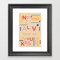 Haikuglyphics - Do the Dew Framed Art Print
