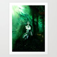 Eerie Mermaid Art Print