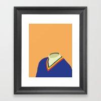 Neck Sweater Illustratio… Framed Art Print