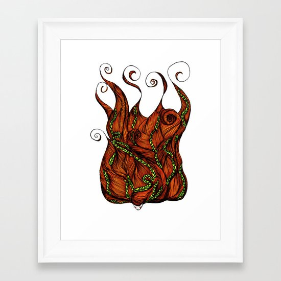 Vine Head Framed Art Print