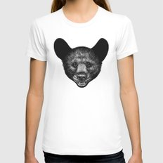 Little Bear Womens Fitted Tee White SMALL