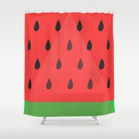 Watermelon Slice Shower Curtain