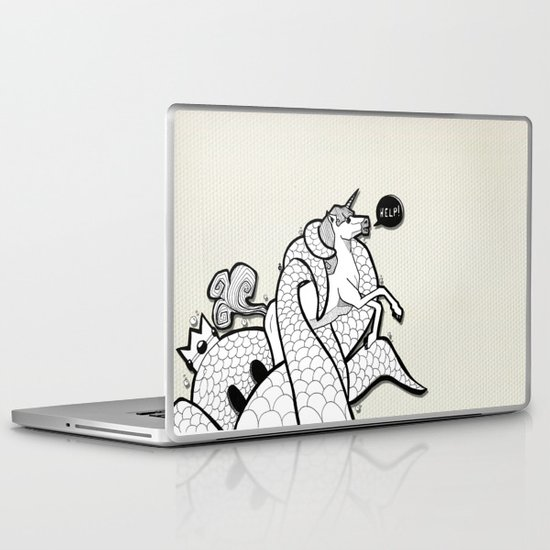 I hate Unicorn Laptop & iPad Skin