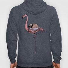 Flamingo and Pug Hoody