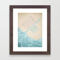 Source Code - minimal poster Framed Art Print