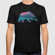 Bear Country Mens Fitted Tee Tri-Black SMALL
