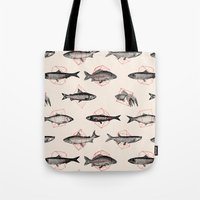 Fishes In Geometrics (Re… Tote Bag