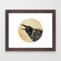CROW-ded Framed Art Print