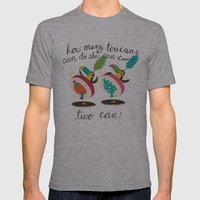 Toucan-can Mens Fitted Tee Athletic Grey SMALL