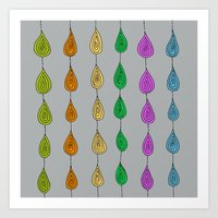 Candy Raindrops Art Print