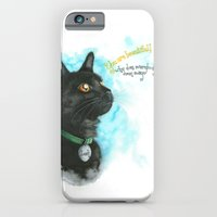 iPhone & iPod Case featuring Black Cat-2 by Hande Unver